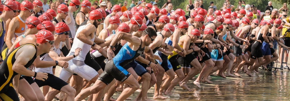 Triathlon am Heidbergsee